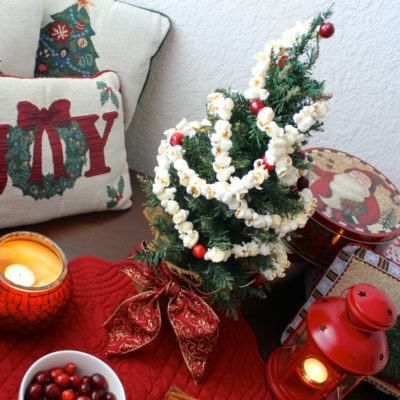 How to Make a Popcorn and Cranberry Christmas Garland