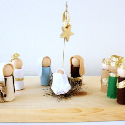 DIY Christmas Manger