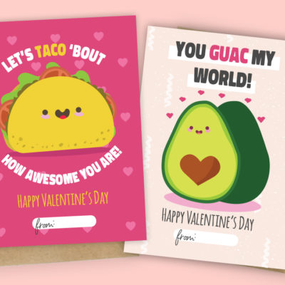 Printable (And Adorable)  Valentine Day's Cards